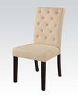 Acme Beige Side Chair Vriel AC71582 (Set of 2)