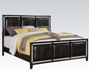 Acme Black Crocodile Bed Elberte AC22790BED