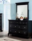 Acme Black Dresser w/ Mirror Canterbury AC10435DM