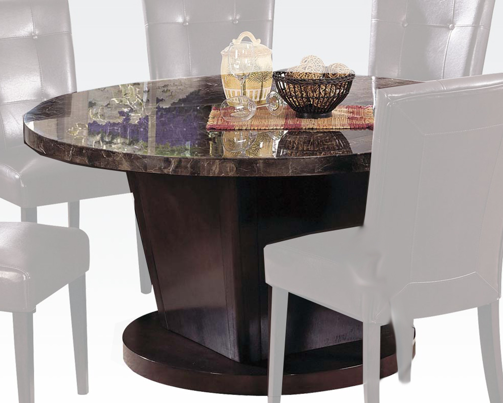 Acme black marble top dining table danville ac07003 for Marble top dining table