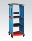 Acme Blue/ Red & Black Bookcase Tobi AC37565