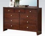 Acme Brown Cherry Dresser Ilana AC20405