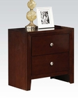 Acme Brown Cherry Nightstand Ilana AC20403