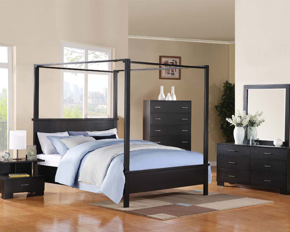 & Acme Canopy Bedroom Set London AC20050SET