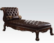 Acme Chaise in Cherry Oak Patina AC96489