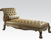 Acme Chaise in Gold Patina AC96489