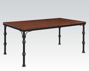 Acme Dark Oak Dining Table Vriel AC71580
