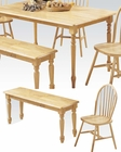 Acme Dining Set in Natural Finish Farmhouse AC02247N-SET