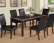 Acme Dining Set w/ Glass Rolle AC71065SET