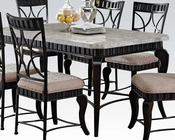 Acme Dining Set w/ White Marble Top Table Lorencia AC70294SET