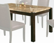 Acme Dining Table w/ Aegean Brown Marble Top Charissa AC70750
