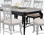 Acme Dining Table w/ White Marble Top Lorencia AC70294