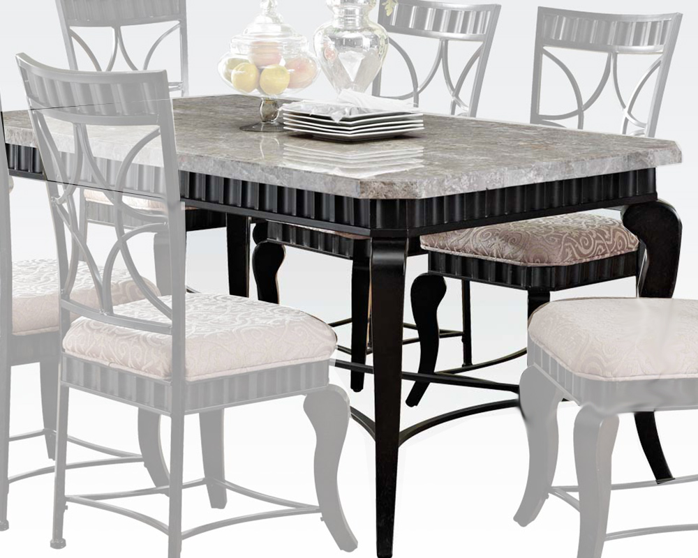 Acme dining table w white marble top lorencia ac70294 White dining table