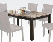 Acme Emparedora Gray Marble Top Dining Table Dwayne AC70760