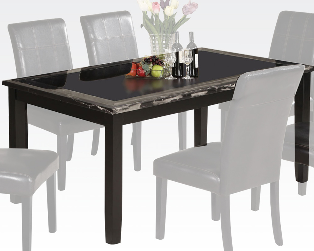 acme faux marble dining table blythe ac71060. Black Bedroom Furniture Sets. Home Design Ideas