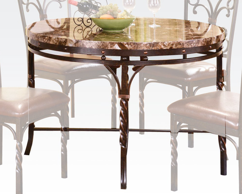 Acme Faux Marble Top Dining Table Burril AC