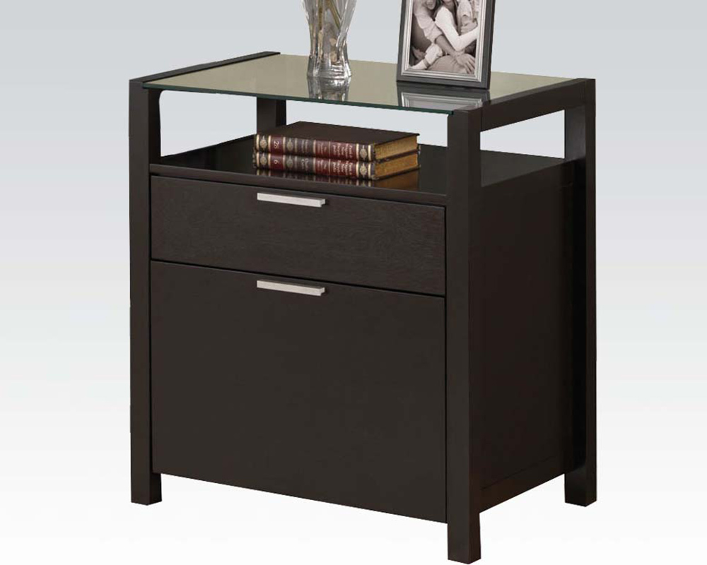 acme file cabinet in wenge ac92054. Black Bedroom Furniture Sets. Home Design Ideas