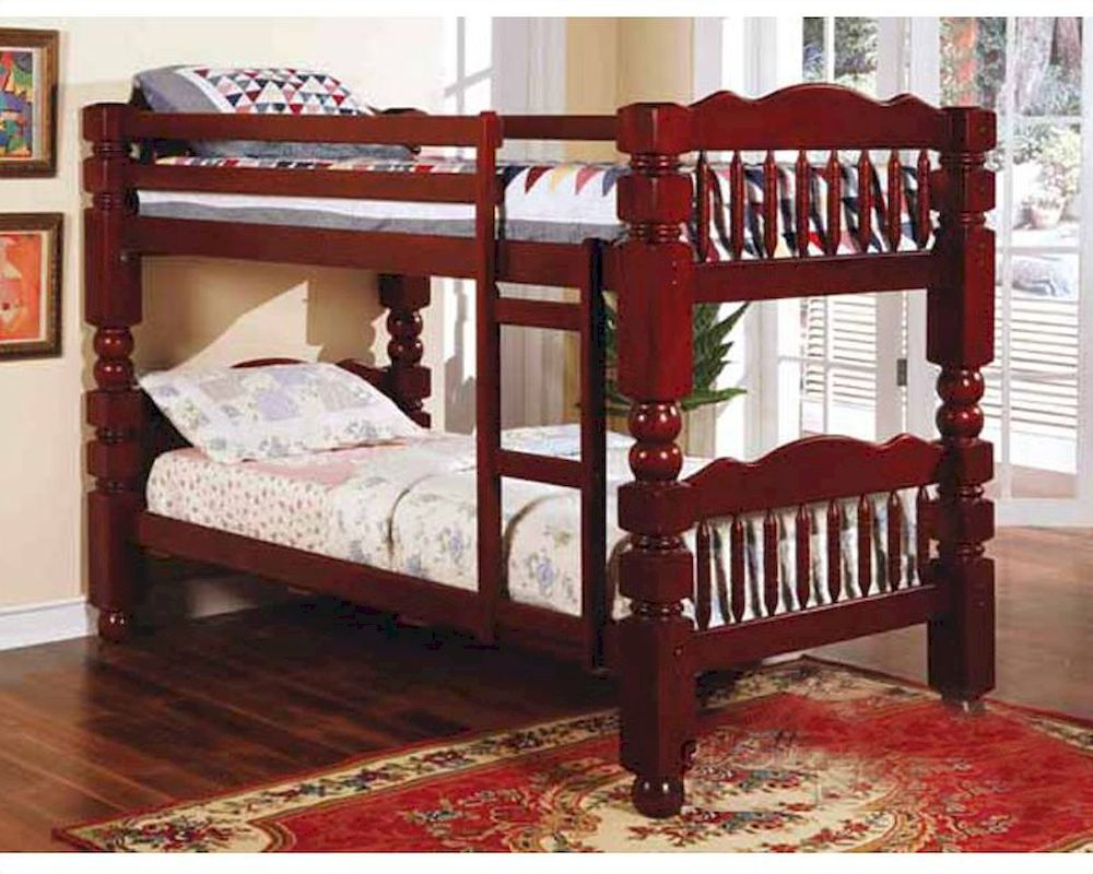 Acme Furniture 4 5 Post Twin Over Twin Bunk Bed In Cherry