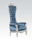 Acme Furniture Accent Chair in Blue Fabric  AC59142