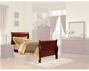 Acme Furniture Bed Louis Philippe in Cherry AC19530TBED