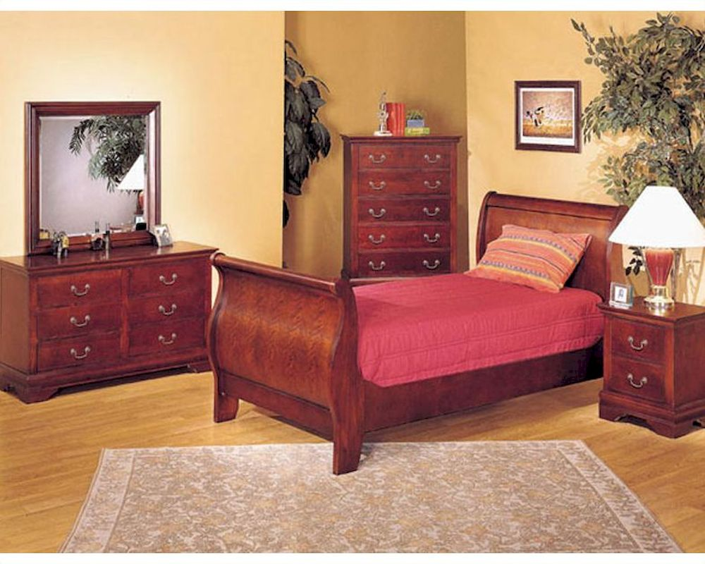 Acme Furniture Bedroom Set In Cherry Ac08670tset