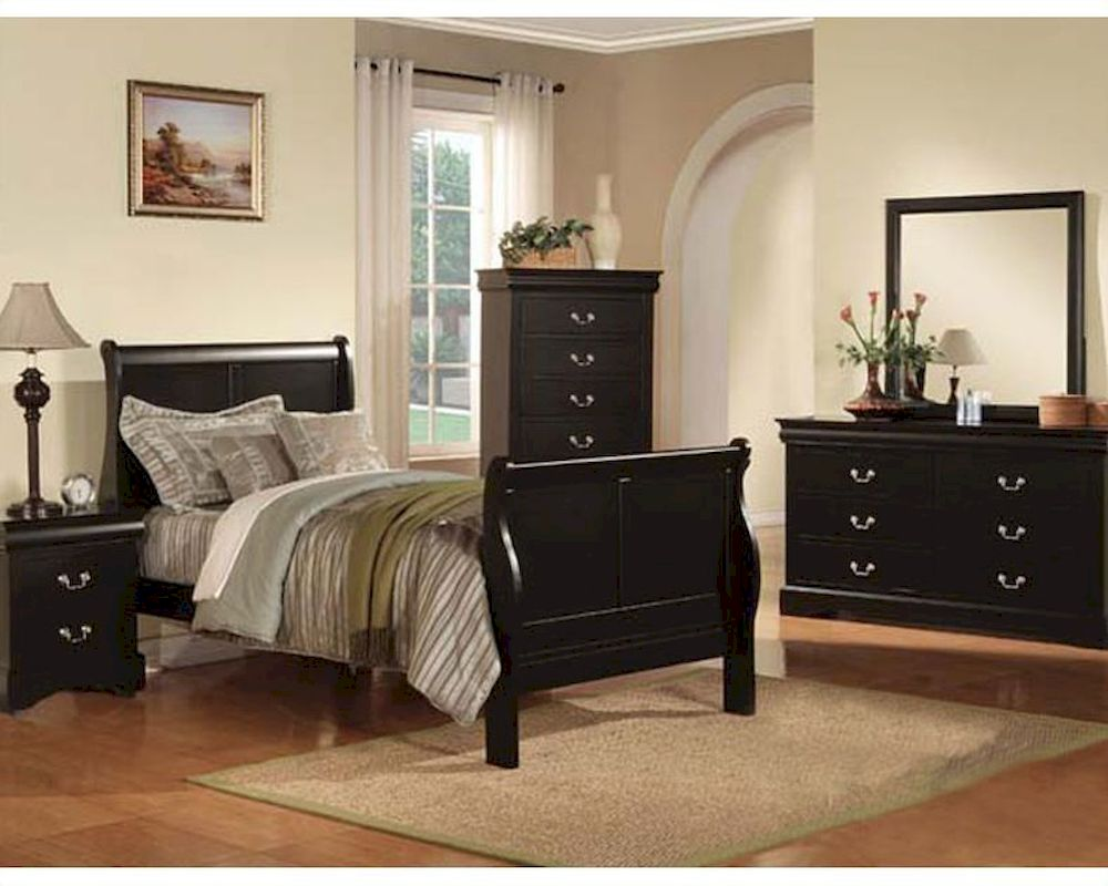 Acme Furniture Bedroom Set Louis Philippe In Black Ac19510tset