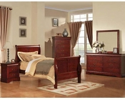 Acme Furniture Bedroom Set Louis Philippe in Cherry AC19530TSET