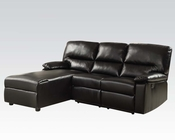 Acme Furniture Black Sectional w/ Reclining Chair Artha AC51555