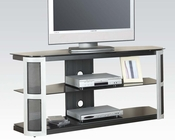 Acme Furniture Black Tempered Glass TV Stand AC91032