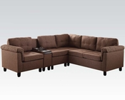 Acme Furniture Brown Sectional Sofa Cleavon AC51530