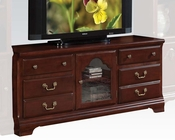 Acme Furniture Cherry Finish TV Stand AC91113