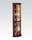 Acme Furniture Corner Cabinet in Cherry AC02347
