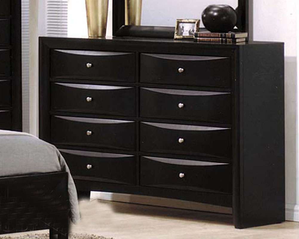 Contemporary Bedroom Set London Black By Acme Furniture: Acme Furniture Dresser In Black AC04165