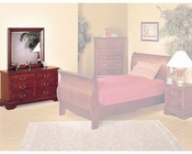 Acme Furniture Dresser with Mirror in Cherry AC09804-5