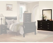 Acme Furniture Dresser with Mirror Louis Philippe in Black AC19504-5