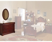 Acme Furniture Dresser with Oval Mirror in Cherry AC11878-9