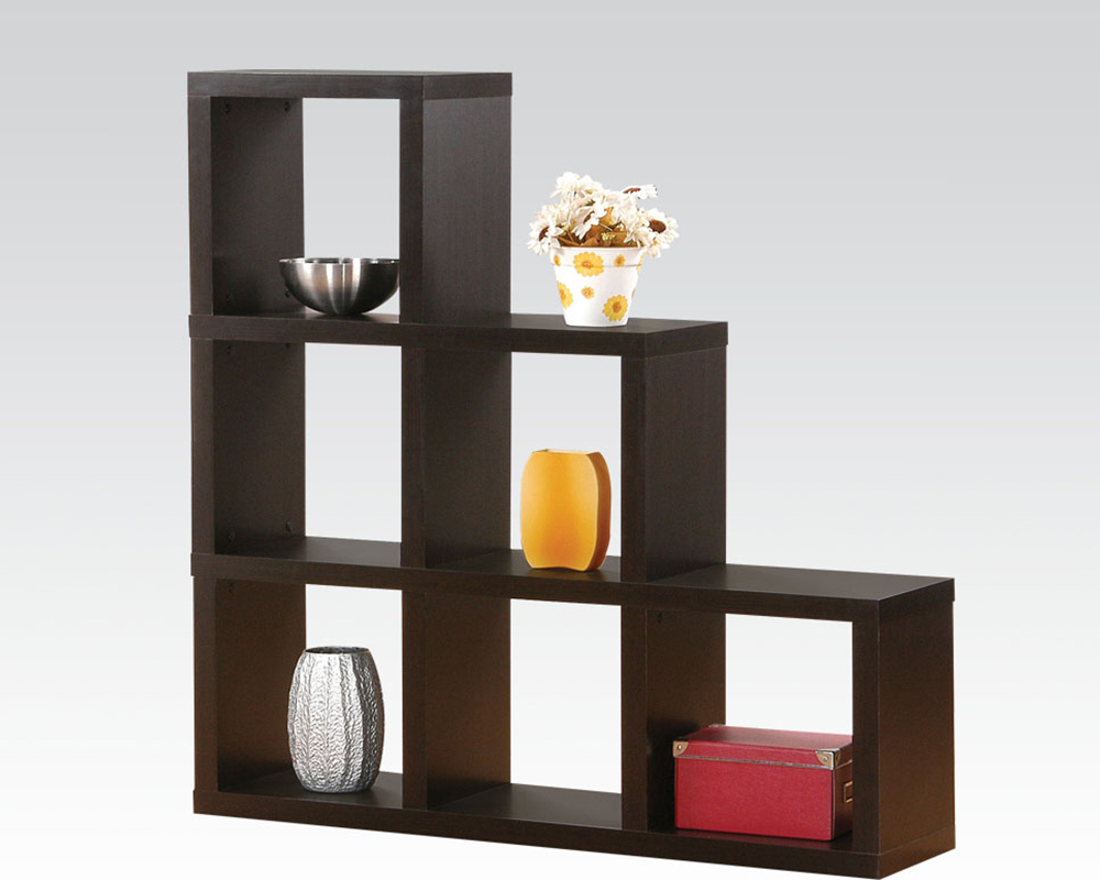 Acme furniture espresso display bookcase ac92160 for Display home furniture