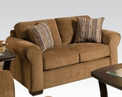 Acme Furniture Fabric Loveseat Torilyn Walnut AC51236