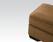 Acme Furniture Fabric Ottoman Torilyn Walnut AC51238