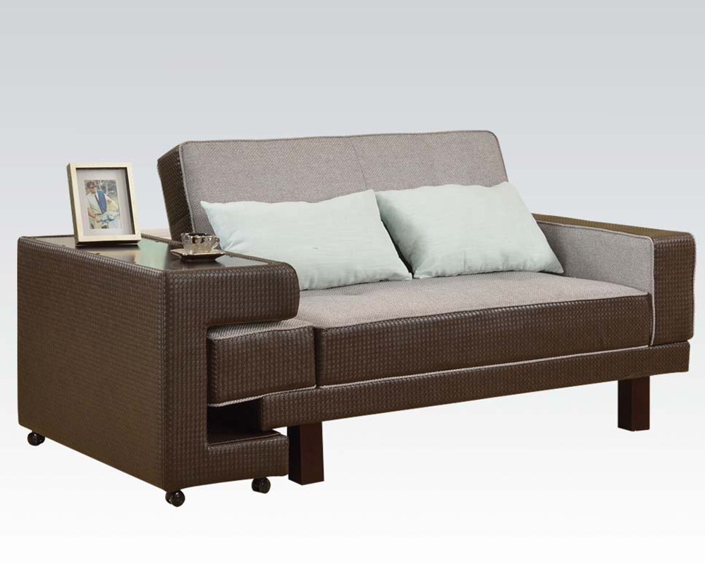 Acme furniture futons and adjustable sofa ac57124 for Furniture sofas and couches