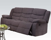 Acme Furniture Gray Velvet Motion Sofa Jacinta AC51410