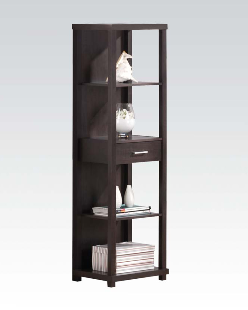 Acme furniture high cabinet w one door ac08279 for Acme kitchen cabinets