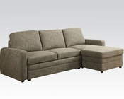 Acme Furniture Linen Sectional Sofa Derwyn AC51645