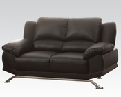 Acme Furniture Loveseat in Black Bonded Leather Maigan AC51206