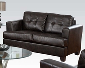 Acme Furniture Loveseat Platinum in Brown Bonded Leather AC15071B