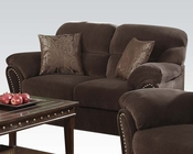 Acme Furniture Loveseat w/ 2 Pillows Patricia Chocolate AC50951