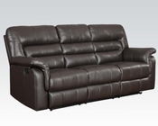 Acme Furniture Motion Sofa in Dark Brown Neon AC50840