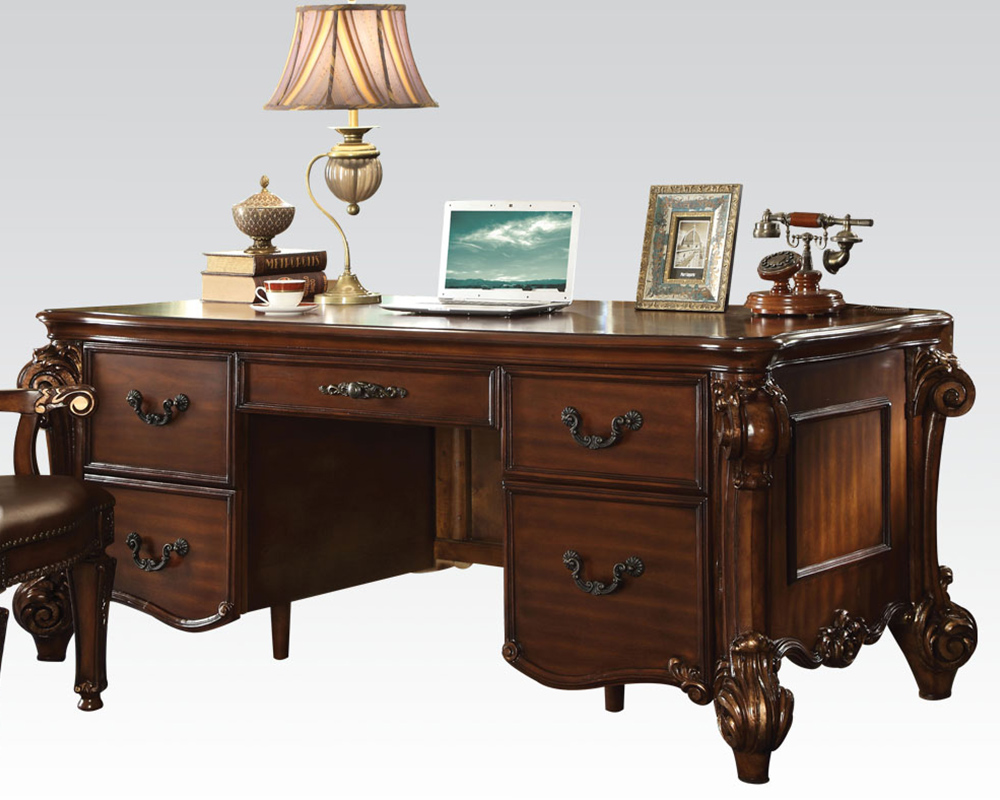 Acme furniture office desk in traditional style ac92125 for Traditional furniture