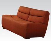 Acme Furniture Orange Linen Sofa Kainda AC51710
