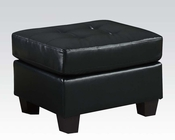Acme Furniture Ottoman Platinum Black AC15093B